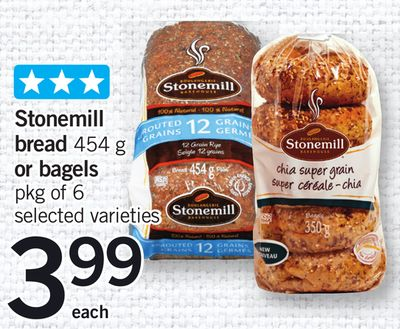 Stonemill Bread - 454 G Or Bagels - Pkg Of 6
