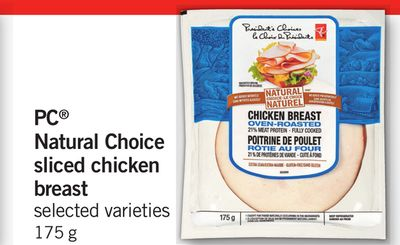 PC Natural Choice Sliced Chicken Breast - 175 g