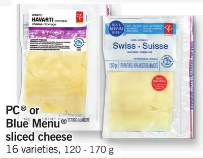 PC Or Blue Menu Sliced Cheese - 120 - 170 g