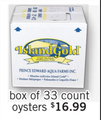 Oyster - Box of 33 Count