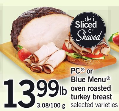PC Or Blue Menu Oven Roasted Turkey Breast