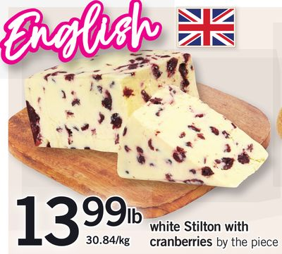 White Stilton With Cranberries