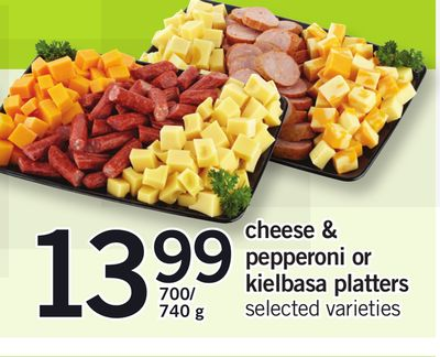 Cheese & Pepperoni Or Kielbasa Platters