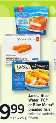 Janes - Blue Water - PC Or Blue Menu Breaded Fish - 575-725 g