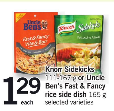 Knorr Sidekicks 111-167 G Or Uncle Ben's Fast & Fancy Rice Side Dish 165 G