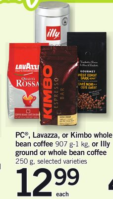 PC - Lavazza - Or Kimbo Whole Bean Coffee - 907 G-1 Kg - Or Illy Ground Or Whole Bean Coffee - 250 G