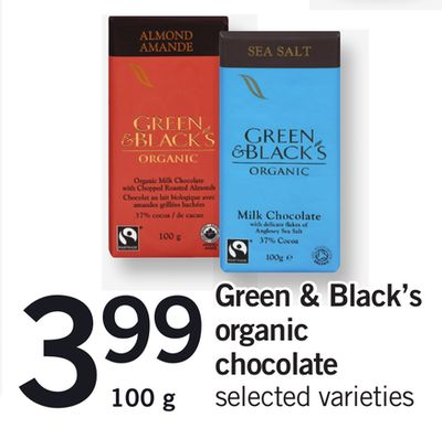 Green & Black's Organic Chocolate - 100 g