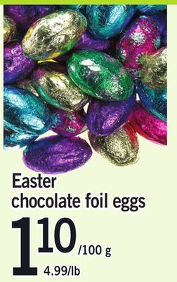Easter Chocolate Foil Eggs
