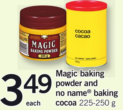 Magic Baking Powder And No Name Baking Cocoa - 225-250 g