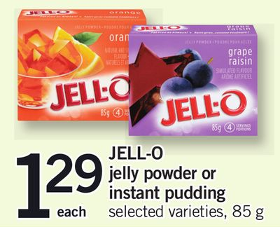 Jell-o Jelly Powder Or Instant Pudding - 85 g