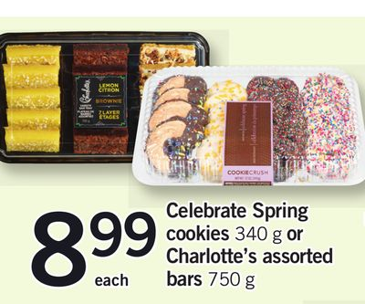 Celebrate Spring Cookies - 340 G Or Charlotte's Assorted Bars - 750 G