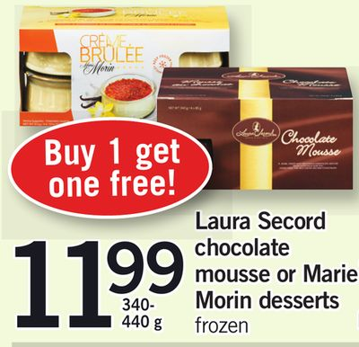 Laura Secord Chocolate Mousse Or Marie Morin Desserts - 340-440 g