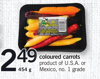 Coloured Carrots - 454 g