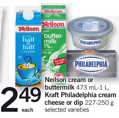 Neilson Cream Or Buttermilk - 473 Ml-1 L - Kraft Philadelphia Cream Cheese Or Dip - 227-250 G