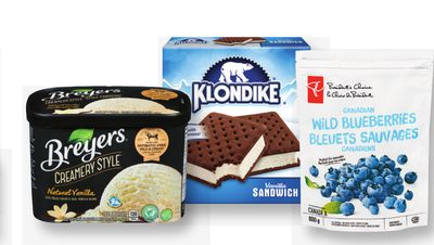 Breyers Ice Cream 1.66 L - Klondike Novelties 4's Or PC Frozen Fruit 400/600 g