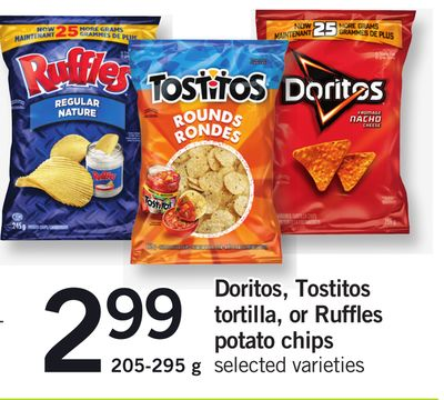 Doritos - Tostitos Tortilla - Or Ruffles Potato Chips