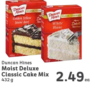 Duncan Hines Deluxe Lemon Cake With Glaze