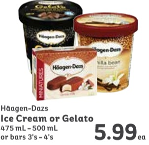 H agen dazs ice cream or gelato 475 on sale for Gelati haagen dazs