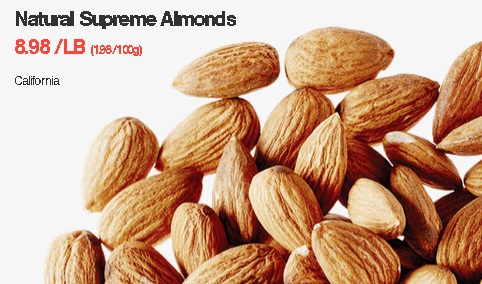 Natural Supreme Almonds