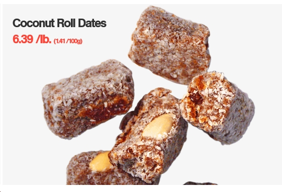 Coconut Roll Dates