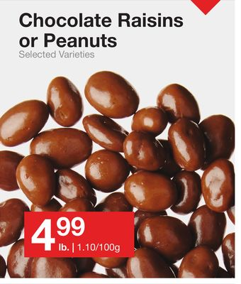 Chocolate Raisins or Peanuts