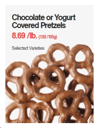 Chocolate or Yogurt Covered Pretzels
