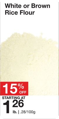 White or Brown Rice Flour