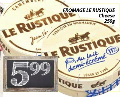 fromage le rustique cheese 250g on sale. Black Bedroom Furniture Sets. Home Design Ideas