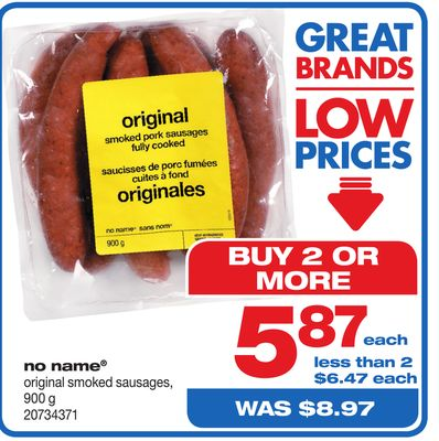 No Name Original Smoked Sausages - 900 g