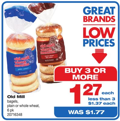 Old Mill Bagels - 6 Pk