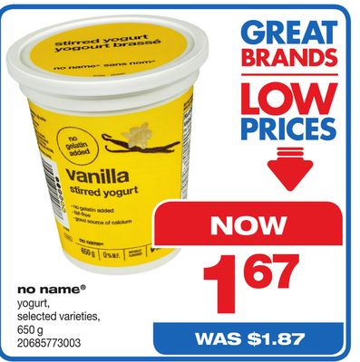 No Name Yogurt - 650 g