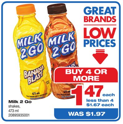 Milk 2 Go Shakes - 473 ml