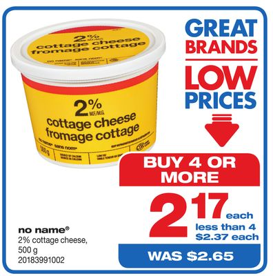 No Name 2% Cottage Cheese - 500 g
