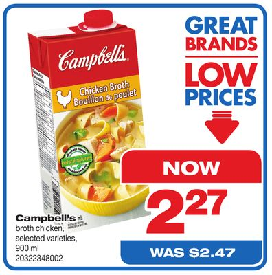 Campbell's Broth Chicken - 900 ml
