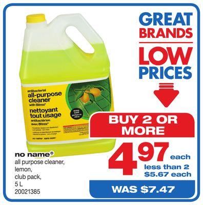 No Name All Purpose Cleaner - 5 L