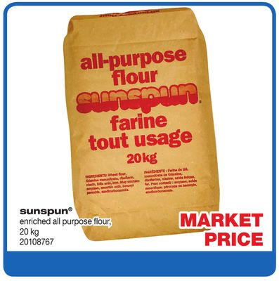 Sunspun Enriched All Purpose Flour - 20 Kg