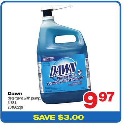 Dawn Detergent With Pump - 3.78 L