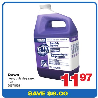 Dawn Heavy Duty Degreaser - 3.78 L