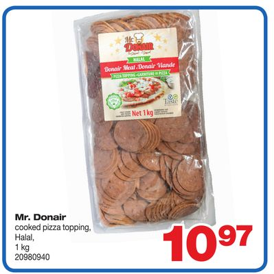 Mr. Donair Cooked Pizza Topping Halal - 1 Kg