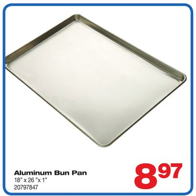 Aluminum Bun Pan 18'' X 26 X 1in