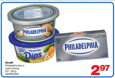 Kraft Philadelphia Dips Or Cream Cheese