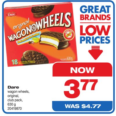 Dare Wagon Wheels - Original - Club Pack - 630 g