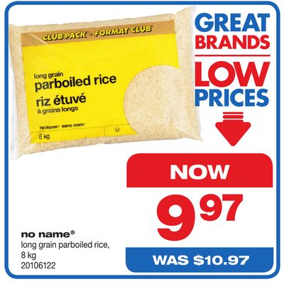 No Name Long Grain Parboiled Rice - 8 Kg