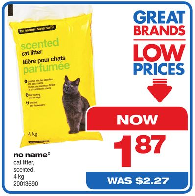 No Name Cat Litter - Scented - 4 Kg