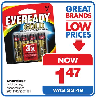 Energizer Goldf Battery.