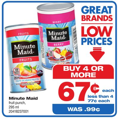 Minute Maid Fruit Punch - 295 ml