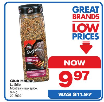 Club House La Grille - Montreal Steak Spice - 825 g