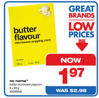 No Name Butter Microwave Popcorn