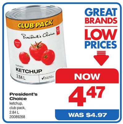 President's Choice Ketchup - Club Pack - 2.84 L
