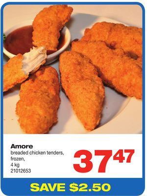 Amore Breaded Chicken Tenders - 4 Kg